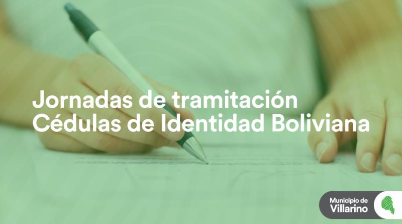 Jornadas de tramitación de cédulas de identidad Boliviana