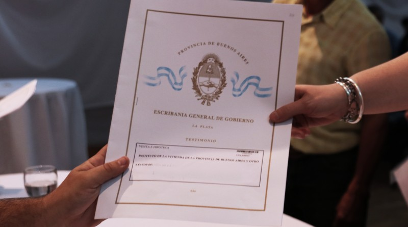 El intendente entregará más de 100 escrituras a vecinos de Villarino