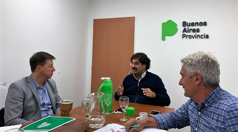 El intendente se reunió con el vicepresidente de ARSAT y el ministro de Agroindustria de la Provincia